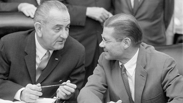 History_Speeches_1114_Lyndon_Johnson_Mcnamara_Air_Strike_still_624x352