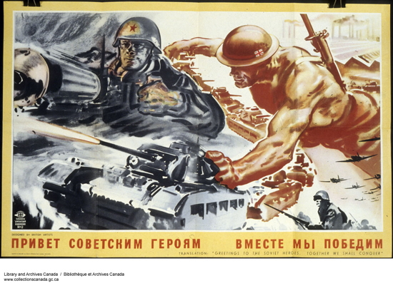 YY 1944-45 00 00 c115714k-v8Greetings to the Soviet Heroes Together we shall Conque