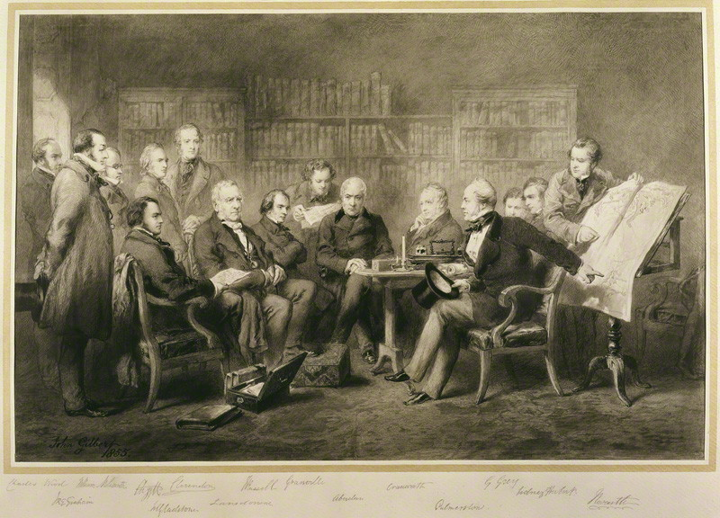 NPG 1125; The Coalition Ministry, 1854 by Sir John Gilbert