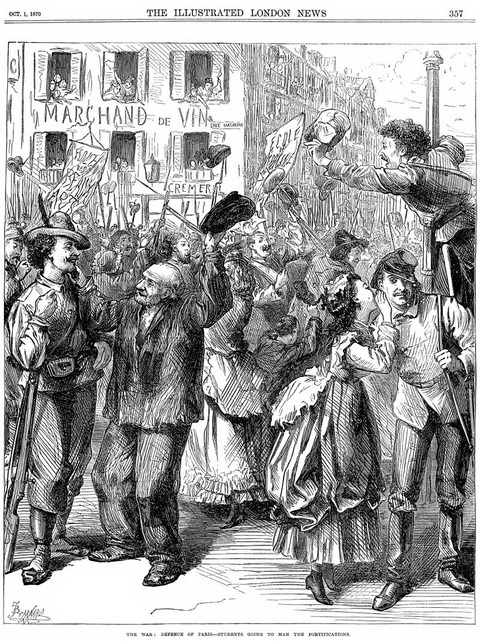 800px-Franco-Prussian_War_-_Students_Going_to_Man_the_Barricades_-_Illustrated_London_News_Oct_1_1870_调整大小