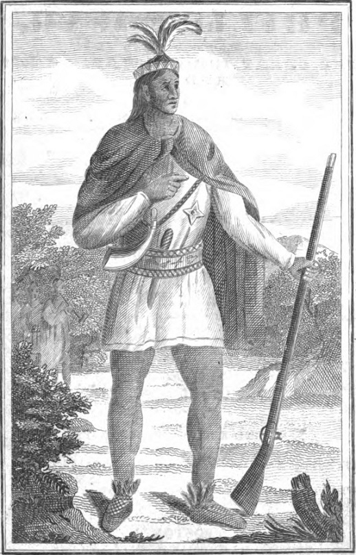 King Philip portrait- from History of Philip's War by Samuel G Drake